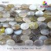 Branelli ovali della pietra preziosa naturale grigia dell'agata (NB0053)