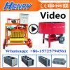 Qmy4-45 Máquina de ladrillo de vibración Máquina de bloqueo de huevos móvil Hormigón Hollow Block que hace la máquina Precio