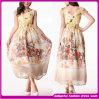 2014 новой моды Деликатные шелковые цветочным рисунком печать платье (DFG10)