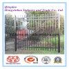 Rete fissa/giardino d'acciaio di obbligazione che recinta con la polvere ricoperta