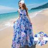 Платье курорта на море флористического платья платья пляжа слинга богемское большие ярды