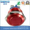 schakelaar van de Drukknop van het Roestvrij staal van het Metaal van de Schakelaar van de Knoop van de Hoorn van 16mm de Rode