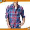 Camicia casuale 2017 della molla della fabbrica del cotone della camicia di plaid di modo degli uomini