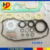 Kubota V2403 termina o jogo da gaxeta da revisão para as peças de motor Diesel