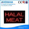 Muestra brillante de la carne LED de Halal del rectángulo de Hidly alta