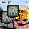 Ricambi auto Truck Tractor 12/80V IP68 Spot Beam 48W Auto LED Work Lamp di Guangzhou per Jeep 27W LED Work Light