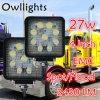 Lâmpada do trabalho do diodo emissor de luz do feixe de ponto 48W do trator 12/80V IP68 do caminhão das peças de automóvel de Guangzhou auto para a luz do trabalho do diodo emissor de luz do jipe 27W