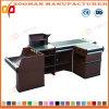 Metallsupermarkt-System-Prüfungs-Standplatz-Kostenzähler-Bargeld-Schreibtisch-Tisch (Zhc53)