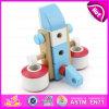 Brinquedos de madeira do avião do parafuso de DIY 28PCS para os miúdos, combinação de madeira da porca do parafuso do brinquedo para as crianças W03c018