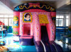 5*5m Pink Inflatable Castle con Snow White Patterns per Children Play