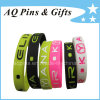 Silicone Bracelet Wristbands con Color Filled