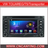 VW Touareg/T5/Transporter (AD-7402)のためのA9 CPUを搭載するPure Android 4.4 Car DVD Playerのための車DVD Player Capacitive Touch Screen GPS Bluetooth