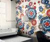 Diseño de la pared de fondo, el arte del mosaico de vidrio patrón mosaico (HMP855)
