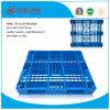 Produits de stockage d'entrepôt 1100 * 1100 * 155mm HDPE Palette à palettes en plastique Plateau en plastique avec 3 coureurs