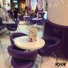 2 Zwarte Moderne Koffietafel Seater voor de Apparatuur van het Restaurant