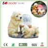 Het exclusieve ZonneStandbeeld van de Hond Polyresin met het ZonneLicht van de Bal van Ritselen voor de Decoratie van de Tuin, OEM Ontwerpen is Welkom