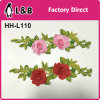 Заплата цветка Rose шнурка способа вышитая 3D для одежды