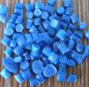 Granule coloré bleu de résine de polyéthylène