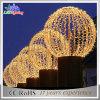 休日の暖かく白い屋外の装飾の通り商業LEDの球ライト