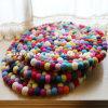 Tapete puro Handmade da esfera de feltro de lãs de Nova Zelândia