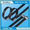 Anchura 9 mm / 13mm / 16mm Ss ala recubierto de PVC abrazadera para cable de bloqueo