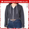 Hoodies серых женщин изготовленный на заказ черноты хорошего качества дешево (ELTCHI-15)