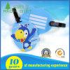 Modifica blu dei bagagli del PVC di colore con un uccello sulla parte anteriore