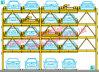 Cinco plantas de elevación de aparcamiento automático sistema de Aparcamiento Automático