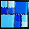 El cuarto de baño piscina mosaico de vidrio cerámico con alta calidad