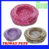 Bases corais confortáveis macias do gato do cão de veludo (WY1610112-2A/C)