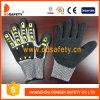 Ddsafety 2017 cortó el shell resistente de Hppe de los guantes con el látex negro