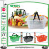 Double Handle Supermarket Plastic PP Shopping Basket