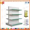 La vendita ha personalizzato la doppia scaffalatura parteggiata del supermercato della visualizzazione del ferro (Zhs510)