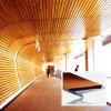 木カラー装飾的な天井のアルミニウムストリップの天井