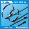 PVC Coated Stainless Steel Cable Ties를 가진 304 각자 Locking Customized Durable Electrical Zip Ties