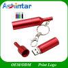 방수 USB 금속 기억 장치 지팡이 병 모양 USB 섬광 드라이브