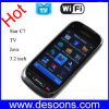 Telefone móvel da tevê de WiFi hebraico eslovaco do polonês da tela de toque de 3.2 polegadas (C7)