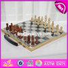 Juego de ajedrez de madera clásico educativo del nuevo diseño para los cabritos W11A056