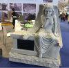HerdenkingsMonument van de Engel van de Zitting van de Steen van het graniet het Grijze