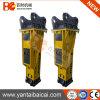 Escavadeira Sany Sy200 use martelo demolidor hidráulico Soosan Rock martelo e cinzel