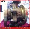 Bronce aluminio C95800 de la válvula de bola flotante de brida