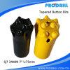 Буровой наконечник цементированного карбида сплющенный, бит кнопки Drilling утеса