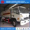 Caminhão do depósito de gasolina do caminhão de tanque 5000L do petróleo de Sinotruck HOWO 4X2 5cbm 5m3