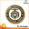 Moneda de encargo del desafío del oro del metal del esmalte colorido