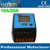 LCD Controlemechanisme van de Last van de Afzet USB 10A/20A van de Vertoning 5V 2A het Zonne