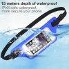 La Lycra resistente al agua IPX8 Bolsa de Cintura de funcionamiento de la correa de huellas digitales de apoyo despertar