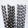 Черный Polka Dot соломы бумаги для всех связи