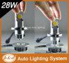28W Hi/Low Beam 12V H4 비스무트 Xenon LED Headlights
