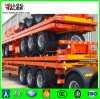 Fuwa 세 배 차축 평상형 트레일러 콘테이너 트레일러를 수송하는 60 톤 콘테이너