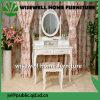 Conjunto de mesa europeu de cômoda branca com espelho (W-HY-017)